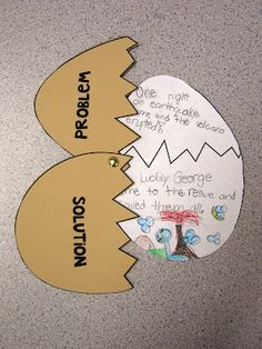 Problem/Solution Eggs activity to help kids with retelling and reading comprehension.
