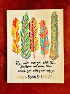 love this!! Would make a neat craft project for Nathan using real feathers!