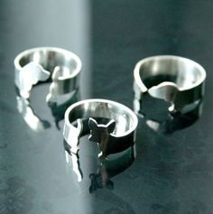 Argentium Silver Chihuahua Dog Ring