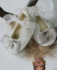 Baby Girl Shoes - Couture Baby Ballet Flat - Silver & White Brocade, Dragonfly (Toddler Shoe Sizes too) Baby Souls Baby Shoes Toddler Ballet, Baby Ballet, Toddler Shoes, Toddler Girl, Baby Girl Shoes, Girls Shoes, Chloe Fashion, Fashion Shoes, Kids Fashion