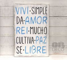 Positive Phrases, Illustrations And Posters, Diy Christmas Gifts, Wood Pallets, Wooden Signs, Hand Lettering, Decoupage, Diy Crafts, Crafty