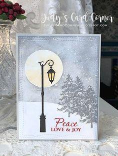 Judy's Card Corner: CASology #279: GRAY   peace love and joy
