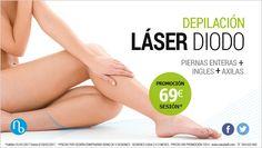#PROMOCIONES hasta el 28 de Febrero: #Depilación Láser Diodo por 69 €/sesión (piernas enteras + ingles + axilas) Más información: ☎ Llámanos al 954 63 30 60