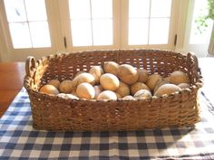Early Antique Gathering Basket | eBay