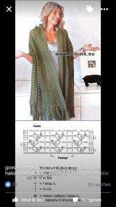 Fabulous Crochet a Little Black Crochet Dress Ideas. Georgeous Crochet a Little Black Crochet Dress Ideas. Shawl Patterns, Crochet Stitches Patterns, Crochet Chart, Diy Crochet, Crochet Shawls And Wraps, Knitted Shawls, Crochet Scarves, Crochet Clothes, Crochet Capas