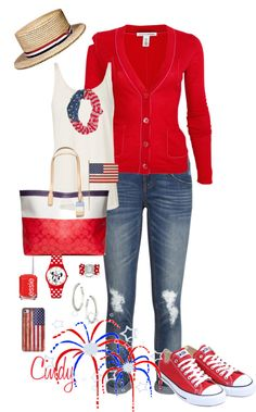 how cute! love the red converse....of course with very hot Texas summers...would have to change jeans to shorts and short sleeve shirt instead of sweater