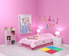 Un cuarto para la princesa del hogar Bed For Girls Room, Little Girl Rooms, Girls Bedroom, Kids Room, Barbie Bedroom, Small Bedroom Designs, Pink Bedrooms, Princess Room, Pooja Rooms