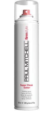 Super Clean Extra®  Finishing Spray    Provides firm hold, helps to boost body and add shine. Helps protect strands from the sun. Dries fast for quick and easy styling.  Firm-hold stylers and conditioning agents   add fullness and shine.  Fine mist sprays dries instantly. #paulmitchell #hair #hairproduct #hairdresser #crueltyfree #hairspray