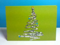 Gliterized home made Christmas Card <3