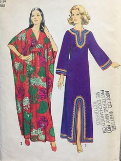 cfde5e4ffd0 Vintage 1970 s Simplicity 5315 Kimono Sleeves Caftan Pattern    Size 12-14  Medium Uncut