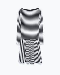 STRIPED JERSEY DRESS-Mini-Dresses-WOMAN | ZARA United States