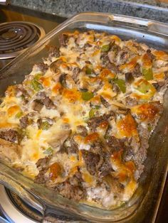 Joki's Kitchen: Keto Low-Carb Philly Cheese Steak Casserole Low Carb dinner – Dinner Recipes Steak Casserole, Keto Casserole, Easy Casserole Recipes, Casserole Dishes, Low Carb Chicken Casserole, Noodle Casserole, Keto Foods, Keto Meal, Paleo Diet