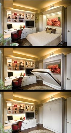 Office/guest room with Murphy bed.