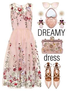 """DREAMY DRESS"" by shoaleh-nia ❤ liked on Polyvore featuring Valentino, Dolce&Gabbana and Too Faced Cosmetics"