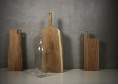 Wooden boards for a kitchen interior. Material: Oak treated with oil and wax.