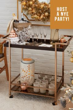 Throw a top notch New Year's Eve party with festive home décor essentials from Lowe's. 🥂🎉 #lowes #holiday #nye #hosting #party