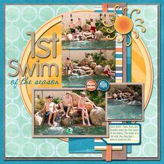 1st Swim of the Season - Scrapbook.com