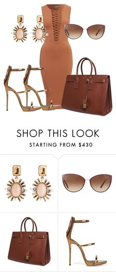 """Untitled #321"" by samstyles001 on Polyvore featuring Oscar de la Renta, Oliver Peoples, Yves Saint Laurent and Giuseppe Zanotti"