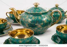 antique porcelain tea set