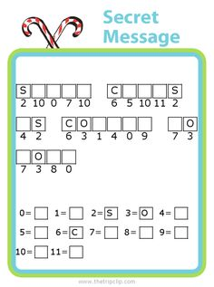 Week Celebrate Christmas with some fun, free printables like this Christmas secret message puzzle! You'll also find a Christmas themed crossword puzzle, word searches, and coloring pages! Holiday Activities For Kids, Toddler Activities, Printable Christmas Games, Baby Feeding Chart, Chore Chart Kids, Chores For Kids, Puzzles For Kids, Deco, Kids Christmas