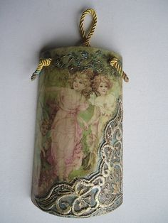 Decoupage, Bottle Crafts, Christmas Crafts, Shabby Chic, Fairy, Pendant, Etsy, Jewelry, Home Decor