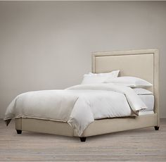 """MASTER BEDROOM Cal King Bed: 76""""W x 91""""D x 60""""H or 68""""H Wallace Fabric Bed"""