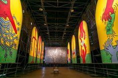 Art - Keith Haring - Extralarge: the ten commandments, the Marriage of Heaven and Hell - veduta della mostra presso la ex Chiesa di San Francesco, Udine 2012