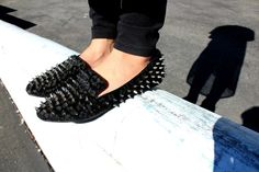 Hell Raising Loafers.  #hellraisers #shoes #loafers #spikes #womensfashion #collegefashion