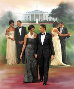 The President and the First Lady by Wishum Gregory