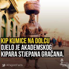 Kumica Barica na Dolcu promatra užurbane građane od 2006. godine. Kip simbolizira žene iz zagrebačke okolice koje prave domaći sir i vrhnje, uzgajaju vlastito voće i povrće te niz drugih proizvoda koje prodaju na Dolcu. #ZagrebFacts #Zagreb #ZG #Agram #kumica #Dolac #StariZagreb #KumicaBarica #Barica