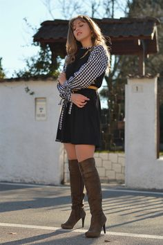 Embroidered dress over gingham blouse. - The Dress Sense