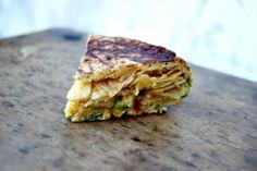 Tortilla chips calabacín