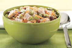 Crunchy Holiday Turkey Salad recipe  (can use turkey, chicken or ham, whatever you have in frig!)