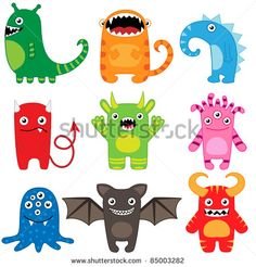 Illustration about Set of different cute funny cartoon monsters. Illustration of cartoon, drawing, face - 21236404 Funny Monsters, Cartoon Monsters, Little Monsters, Mini Monster, Monster Party, Monster Face, Cartoon Cartoon, Burger Cartoon, Funny Character