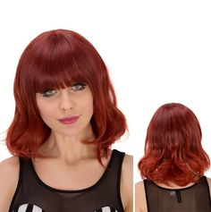 Short Fluffy Slightly Curled Full Bang Heat Resistant Fiber Wig #shoes, #jewelry, #women, #men, #hats