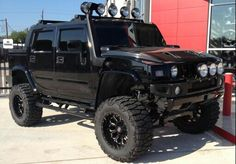 Murdered Lifted Hummer H2