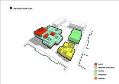 Arkitema diseña nuevo edificio cívico en Dinamarca,Diagrama programático. Imagen cortesía de Arkitema Architects