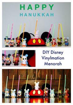 Disney Vinylmation Menorah diy