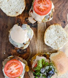 Roasted Jalapeño Cheddar Turkey Burgers with BBQ Aioli