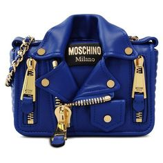 Moschino Shoulder Bag ($1,240) ❤ liked on Polyvore featuring bags, handbags, shoulder bags, bright blue, blue shoulder bag, moschino purse, moschino, shoulder handbags and shoulder strap bags