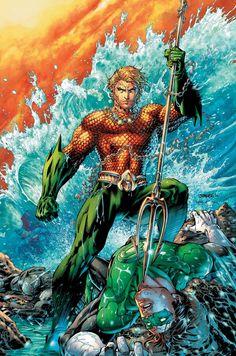Aquaman vs. Green Lantern - Jim Lee