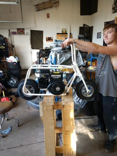 Minibike, Go Kart, Bar Stool, Motorcycles, Bicycle, Homemade, Ideas, Ford Trucks, Projects