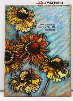Lynne's Art World: A Canvas Full Of Love - Sharing The Five Steps In My Mixed Media Canvas Creations