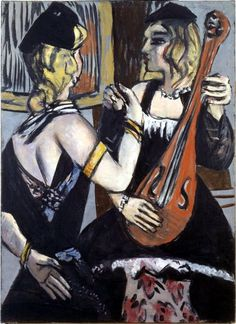 "Max Beckmann ""Cabaret Artists"", 1943 (Germany, Expressionism, 20th cent.) ~Via Ninoy Lumboy"