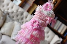 Sweetie Pie Pink Lace Dress Gift Set
