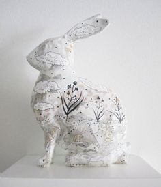 Bunny Rabbit Figurine by sarahogren on Etsy, $42.00                                                                                                                                                                                 More