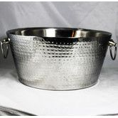 Found it at Wayfair - Anchored Double Walled Hammered Steel Beverage Tub
