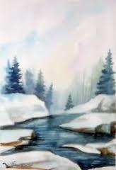 Risultati immagini per acquerelli invernali