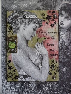 My Prayer For You Conceptual Mixed Media  AcEo  2.5 by Alteredhead, $11.00