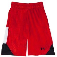 Under Armour® HeatGear® Mustang Printed Basketball Short #VonMaur #UnderArmour #Red #Activewear #Mens